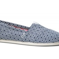 Dark Blue Geometric Jonathan Adler for TOMS Women's Classics