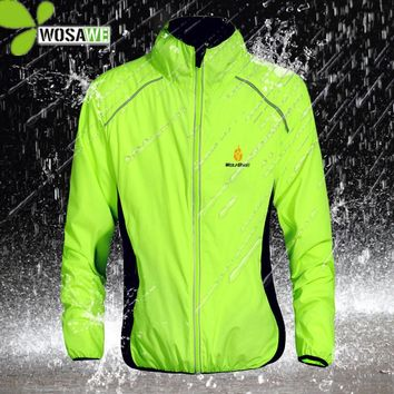 WOSAWE Reflective Water Repellent Cycling Jackets 5 Color Outer Clothing Bicycle Wear Windproof Coat MTB Bike Windbreaker S-3XL