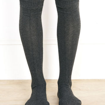Over-The-Knee Cable Knit Socks | Wet Seal