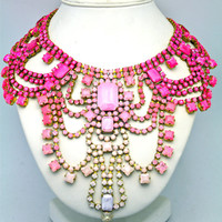 One of a Kind Statement Necklace Paris 3 by DolorisPetunia on Etsy