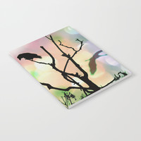 The Lonely Crow At Sunset Notebook by minx267