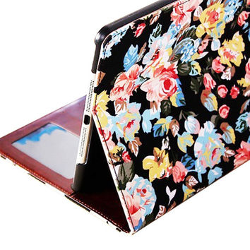 beautiful floral cloth iphone 5 5s creative case cover wallet