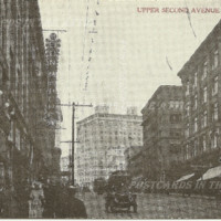 Postcards In The Attic: The Pacific Northwest Photographic Series Street Scene the Upper Second Avenue Vintage Postcard REFNOAPS22