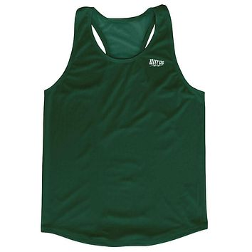Forest Green Running Tank Top Racerback Track and Cross Country Singlet Jersey