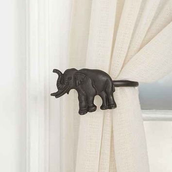 Elephant Curtain Tie-Back- Left ALL