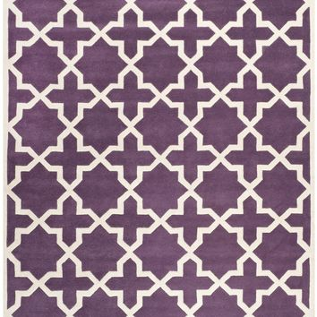 Chatham Transitional Indoorarea Rug Purple / Ivory