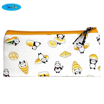 NEW!  Panda Pencil Pouch | Bread Zipper Bag | Food Pencil Case
