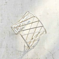 Captured Prisms Cuff Bracelet- Silver One