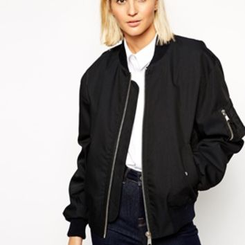 ASOS WHITE Traditional Bomber Jacket