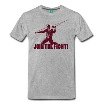 Join The Fight T-Shirts - Men's Crew Neck Top Tees