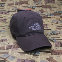 The North Face Embroidered Gray Cotton Baseball Cap Hats