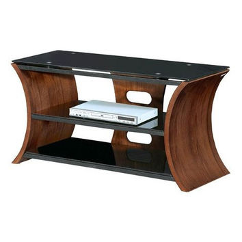 Modern Bent Wood Convex Design TV Stand - Holds Up To 50 Inch TV