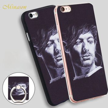 Minason louis tomlinson 3 Mobile Phone Shell Soft TPU Silicone Case Cover for iPhone X 8 5 SE 5S 6 6S 7 Plus