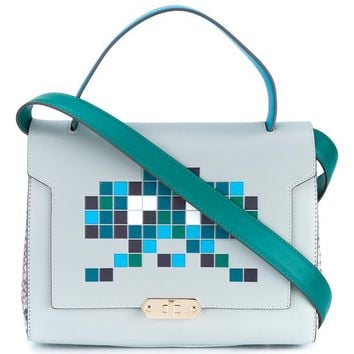 ANYA HINDMARCH | Space Invaders Small Bathurst Satchel | Womenswear | Browns Fashion