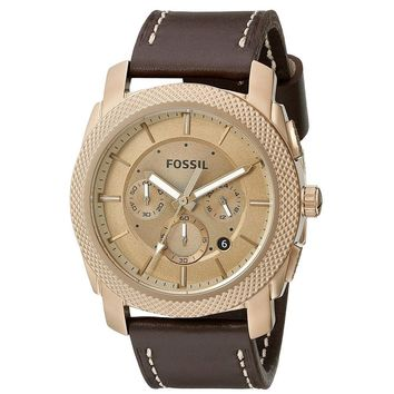 FOSSIL MACHINE CHRONOGRAPH BROWN LEATHER MEN'S WATCH FS-FS5075