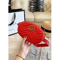 GUCCI Tide brand high quality female models wild mini chest bag shoulder bag Messenger bag red