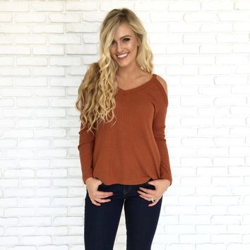 All Mine Sweater Top in Rust