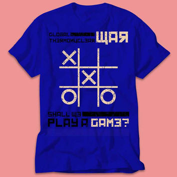 War Games 80's Movie Shirt-Tic Taco Toe Shirt  - Multi Size Color