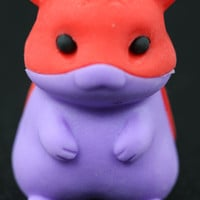 Red and Purple Hamster Eraser Series Two