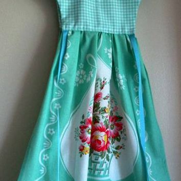 Mint Green Kitchen Oven Dress Towel - Only One Available!