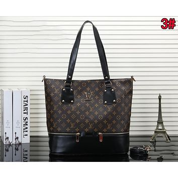 LV Louis Vuitton Popular Women Shopping Bag Leather Handbag Tote Shoulder Bag Crossbody Satchel 3#