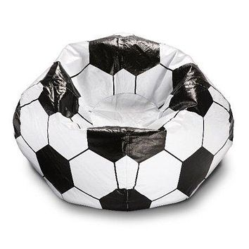 Kids, Children, Teens Soccer Ball Bean Bag Chair Bedroom Playroom Game Room Seating Furniture