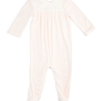 Pima Velour Footed Coverall, Size 3-9 Months,