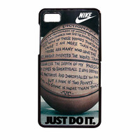 Nike Basketball Just Do It And Passion BlackBerry Z10 Case