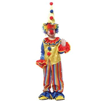 MOONIGHT Funny Kids Children Circus Clown Costume Naughty Harlequin Uniform Fancy Cosplay Clothing for Boys