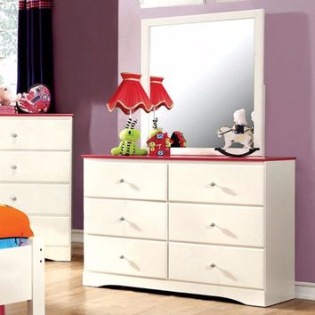 Kimmel Mumsy Grotesque Storage Dresser With Drawers, White And Pink