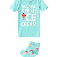 All You Need Is Ice Cream Two-Piece Shortie Pajama Set