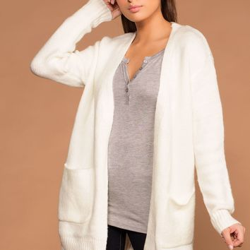 Warm And Fuzzy Ivory Cardigan