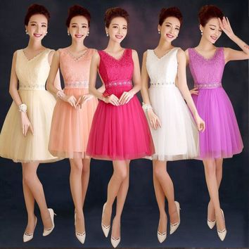 ZX528#The company will host annual spring summer 2016 fashion short prom new bride toast bridesmaid dress