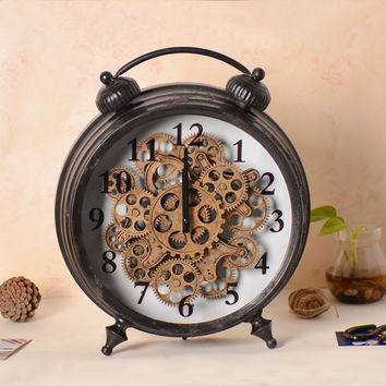 Home Decor Decoration Gifts Stylish Vintage Weathered Clock [6282981446]