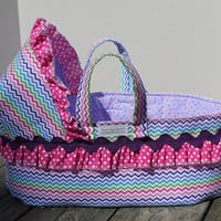 Doll Carrier Bed Available in 2 Sizes for American Girl, Bitty Baby, Cabbage Patch, Large Baby Dolls and Stuffed Animals