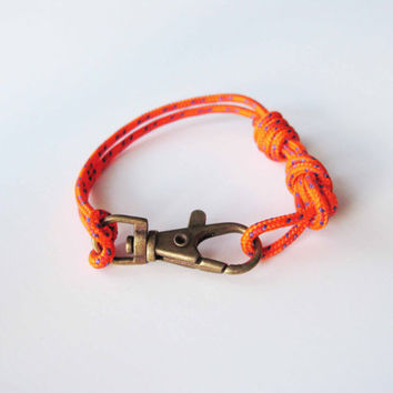 Nautical Rope Bracelet Orange by AllBeta on Etsy