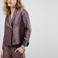 Maison Scotch Double Breasted Structured Pajama Shirt at asos.com