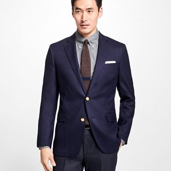 Regent Fit Doeskin Stretch Wool Blazer - Brooks Brothers
