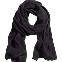 H&M - Cashmere Scarf - Black - Ladies
