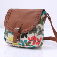 Butterfly Crossbody Canvas Leather Shoulder Bag
