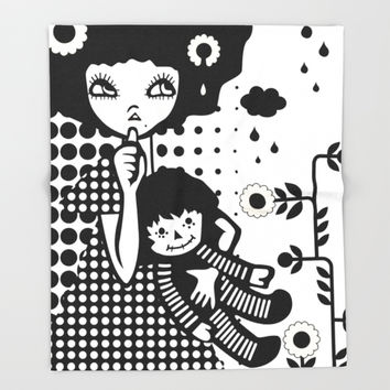 Baby Doll Throw Blanket by DesignDinamique