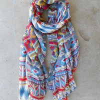 Native Rivers Scarf in Rouge [3960] - $14.40 : Vintage Inspired Clothing & Affordable Summer Frocks, deloom | Modern. Vintage. Crafted.