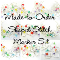 Heart Stitch Markers |  Rainbow Stitch Marker | Square Stitch Marker | Star Stitch Marker | Snag Free Stitch Marker | Knitting Gift | Marker