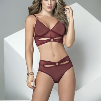 Burgundy Babe Bra Set