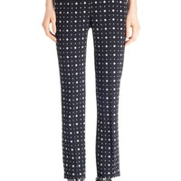 Givenchy Print Straight Leg Stretch Cady Trousers | Nordstrom