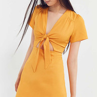 Kimchi Blue Bow-Front Cut-Out A-Line Mini Dress | Urban Outfitters