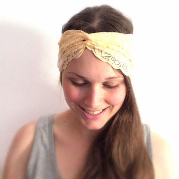 Unique lace turban headband women's head wrap turban fashion accessory
