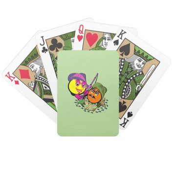 Smileys Fishing Couple Bicycle Playing Cards