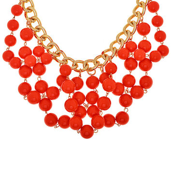 Delilah Beaded Cluster Necklace