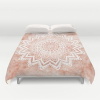 MANDALA SAVANAH Duvet Cover by Nika
